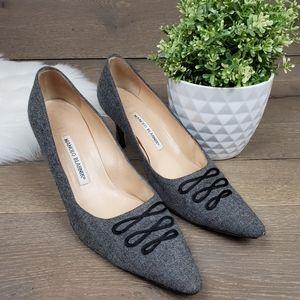 Manolo  Blahnik Vintage Gray Heels
